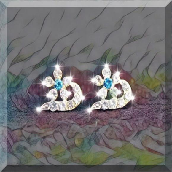 52829cef7263 Simple Crystal Peach Rhinestone Earrings